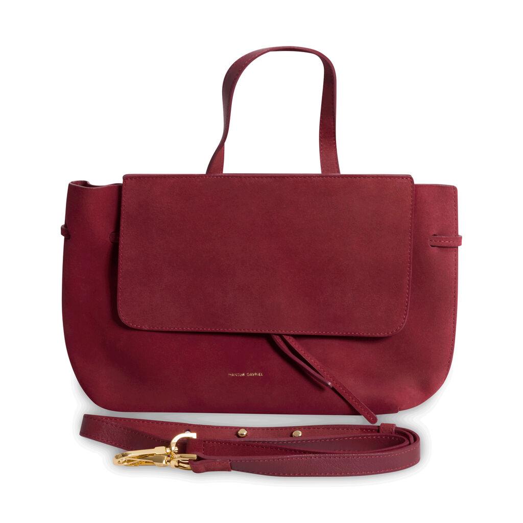 Mansur Gavriel Suede Handbag - Burgundy