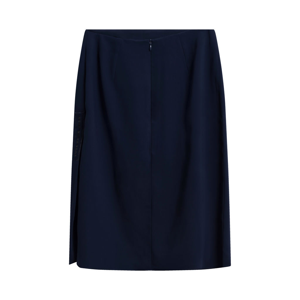 Vintage Mugler Suit with Blazer and Mid-Length Skirt - Navy