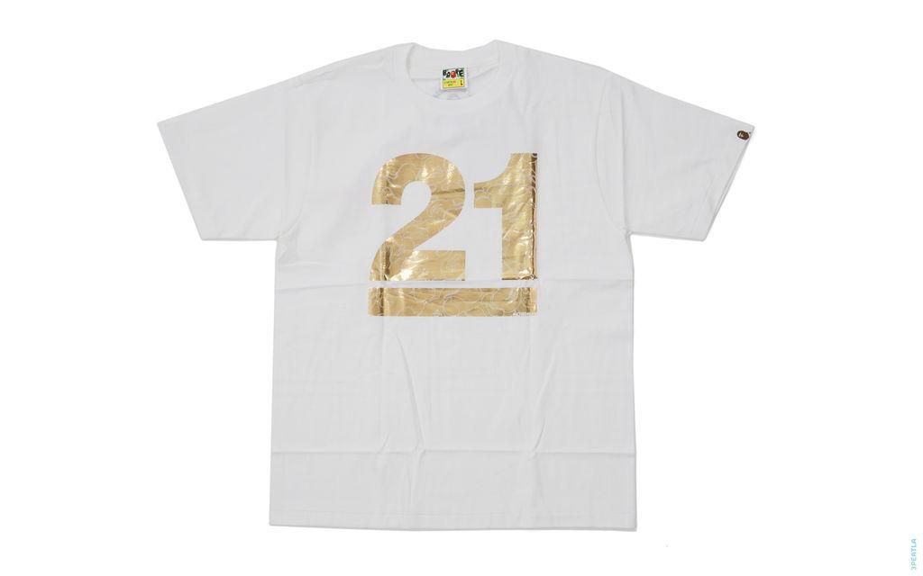 21st Anniversary Foil Tee white gold