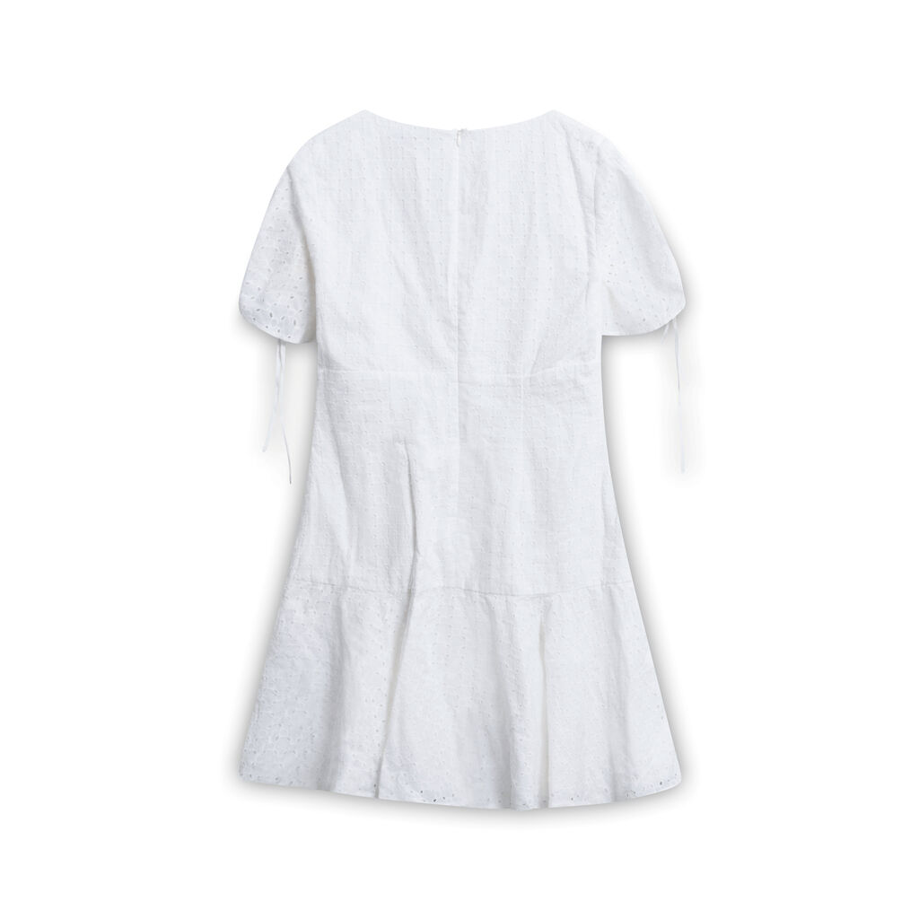 The East Order Saige Mini Dress - White