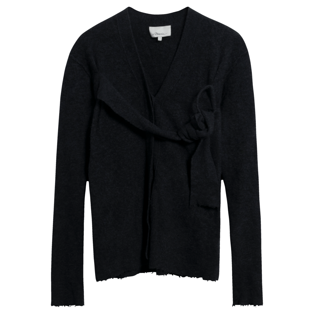 3.1 Phillip Lim Charcoal V-Neck Cardigan