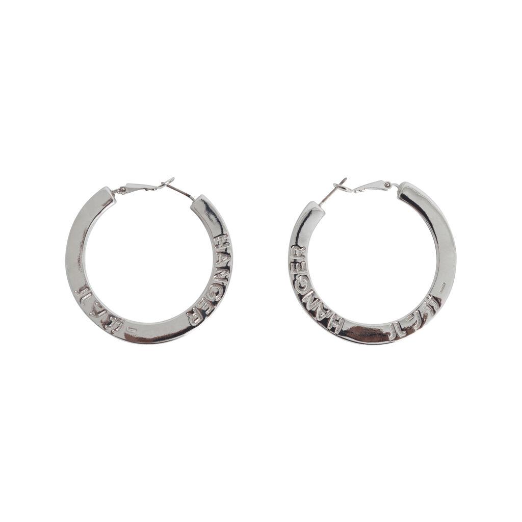 Hanger Inc Hoop Earrings - Silver