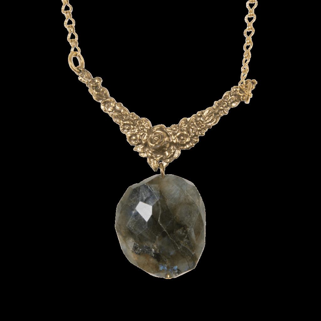 Vintage Necklace with Labradorite Pendant
