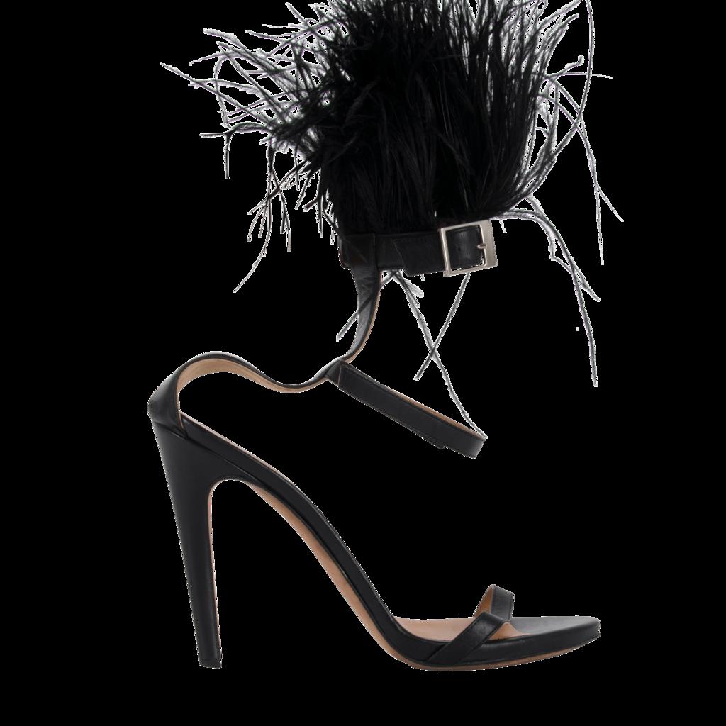 Peter Som x Aperlai Furry Strap Heels