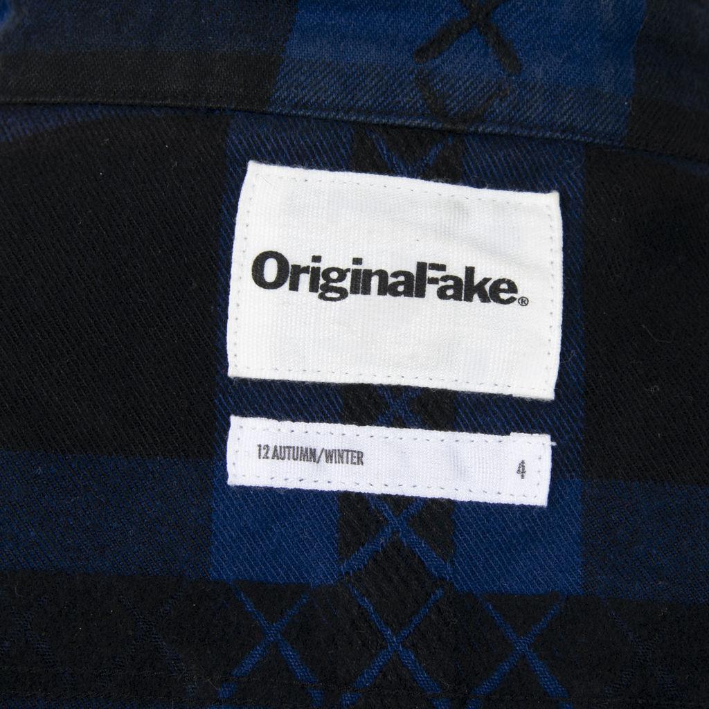Original Fake Block Check Flannel Shirt