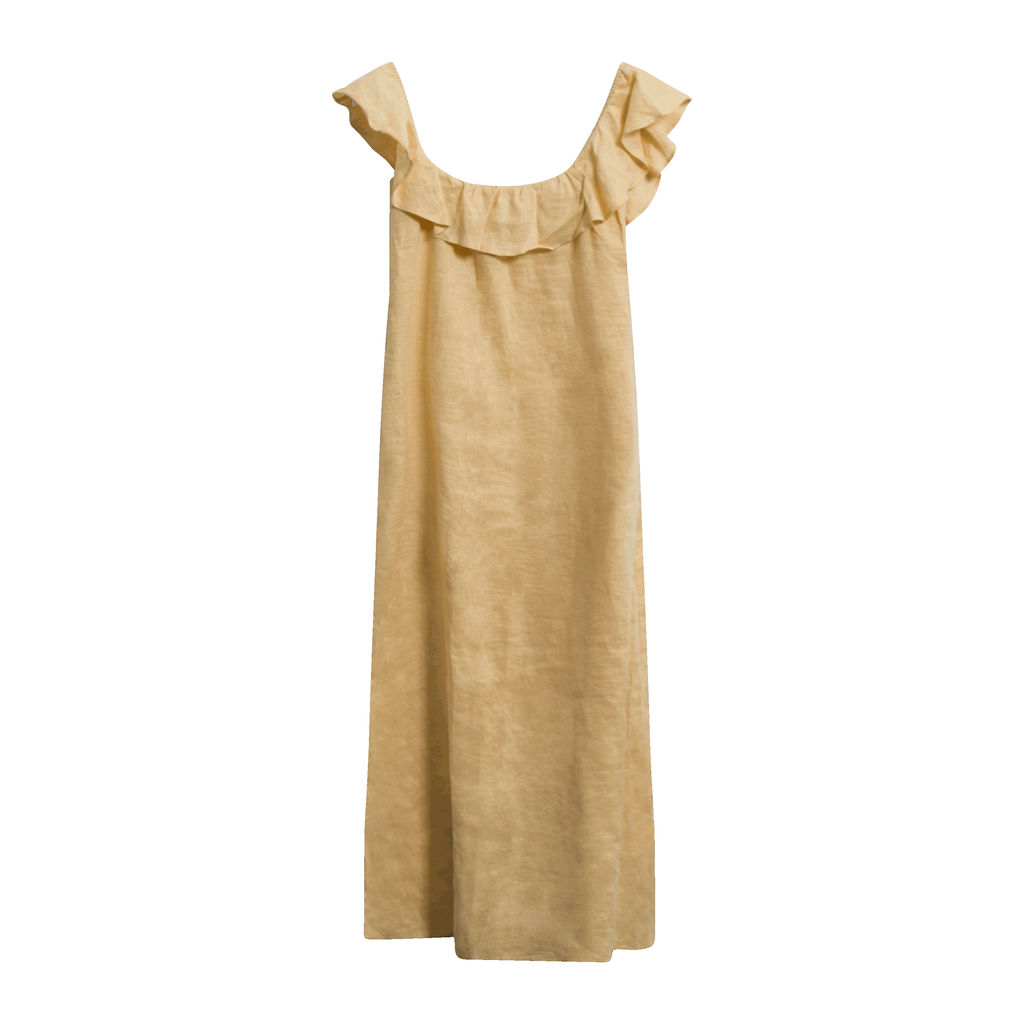 Reformation Yellow Linen Maxi Dress