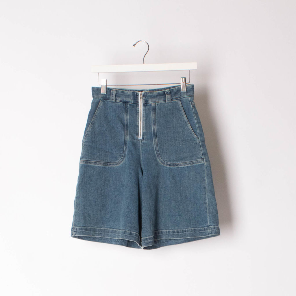 See by Chloe Wide Leg Denim Shorts