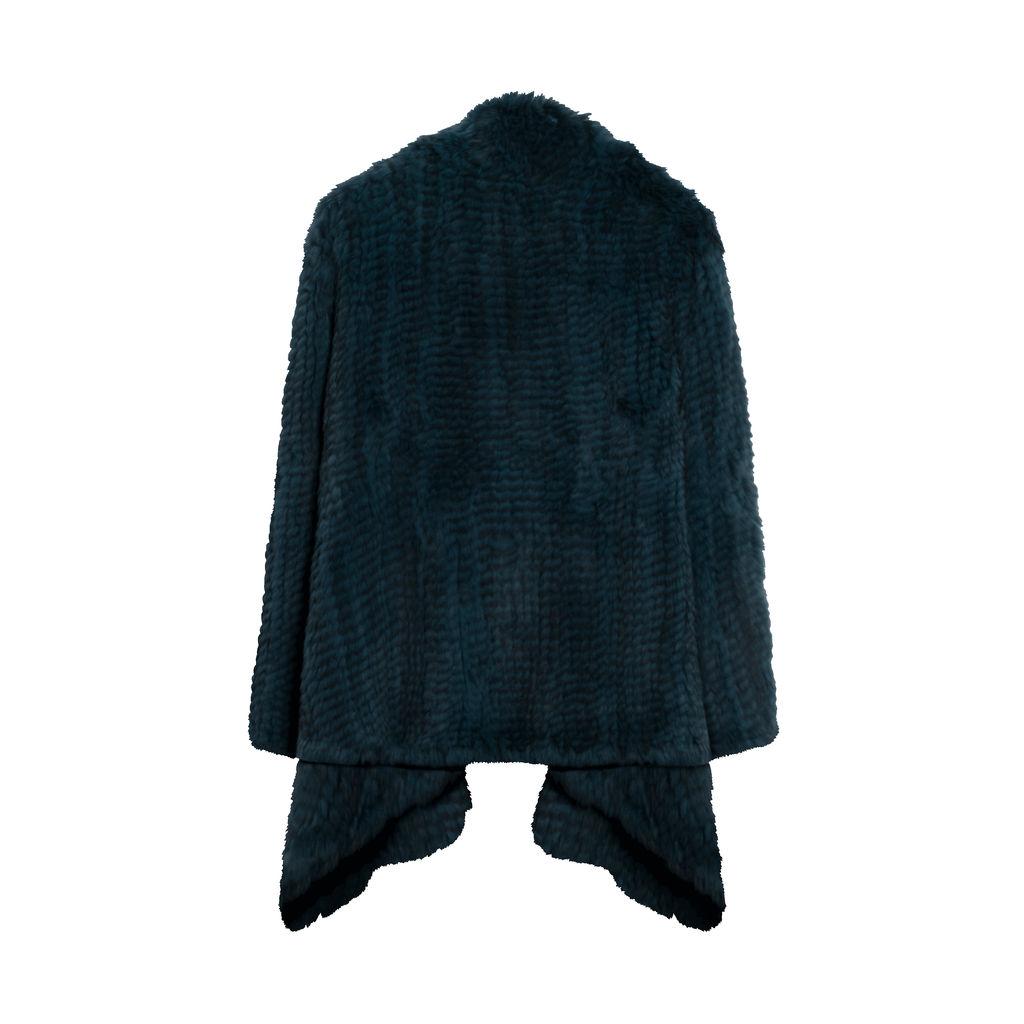 H Brand Dyed Rabbit Fur Coat