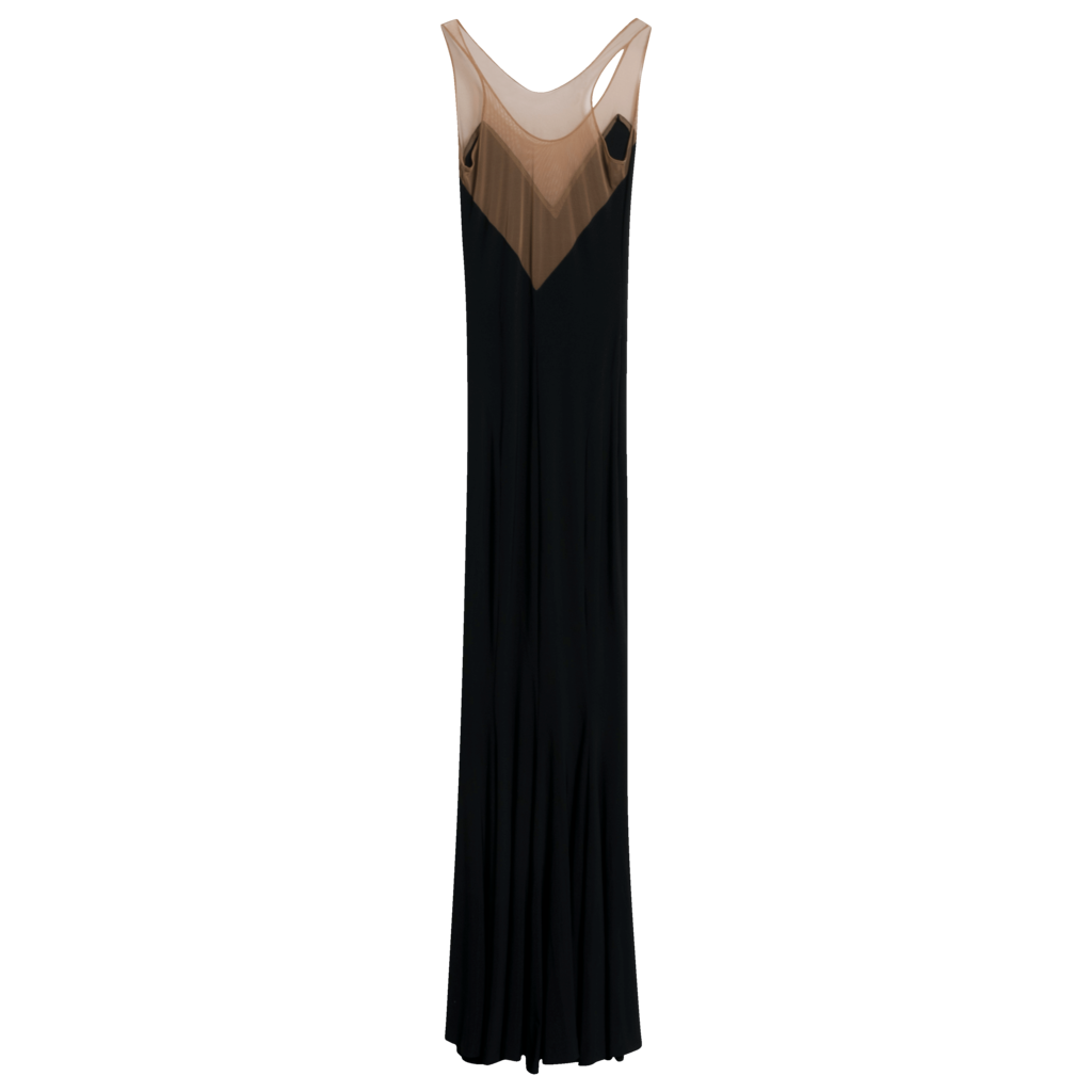 Norma Kamali Racer Stretch-Jersey Maxi Dress