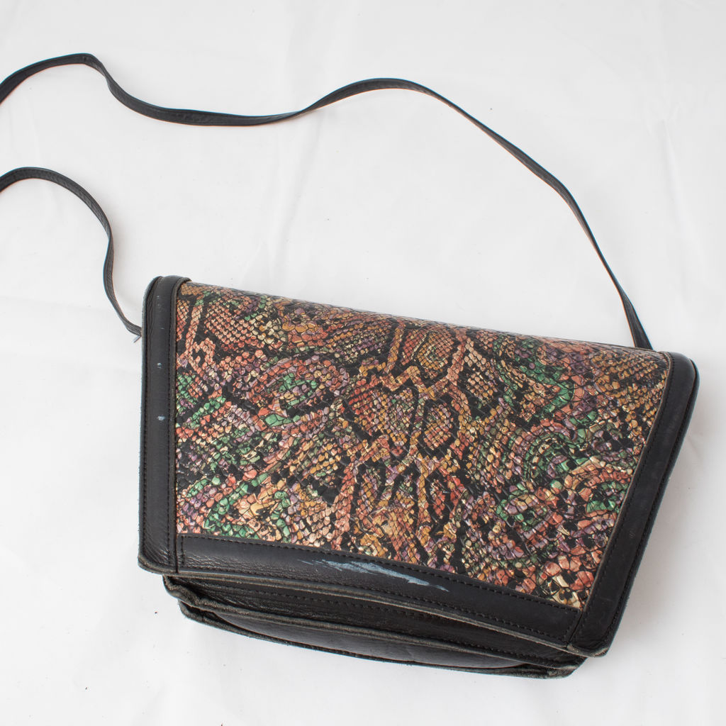 Vintage Roberto Vascon Leather Bag curated by Sophia Amoruso