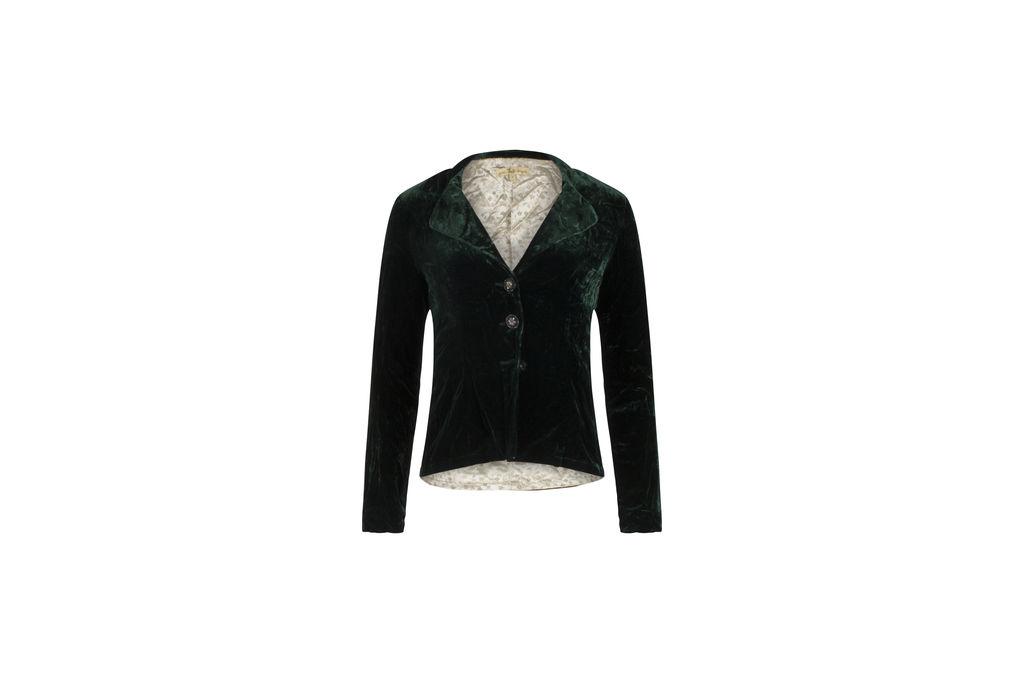 Green Dragon Velvet Blazer