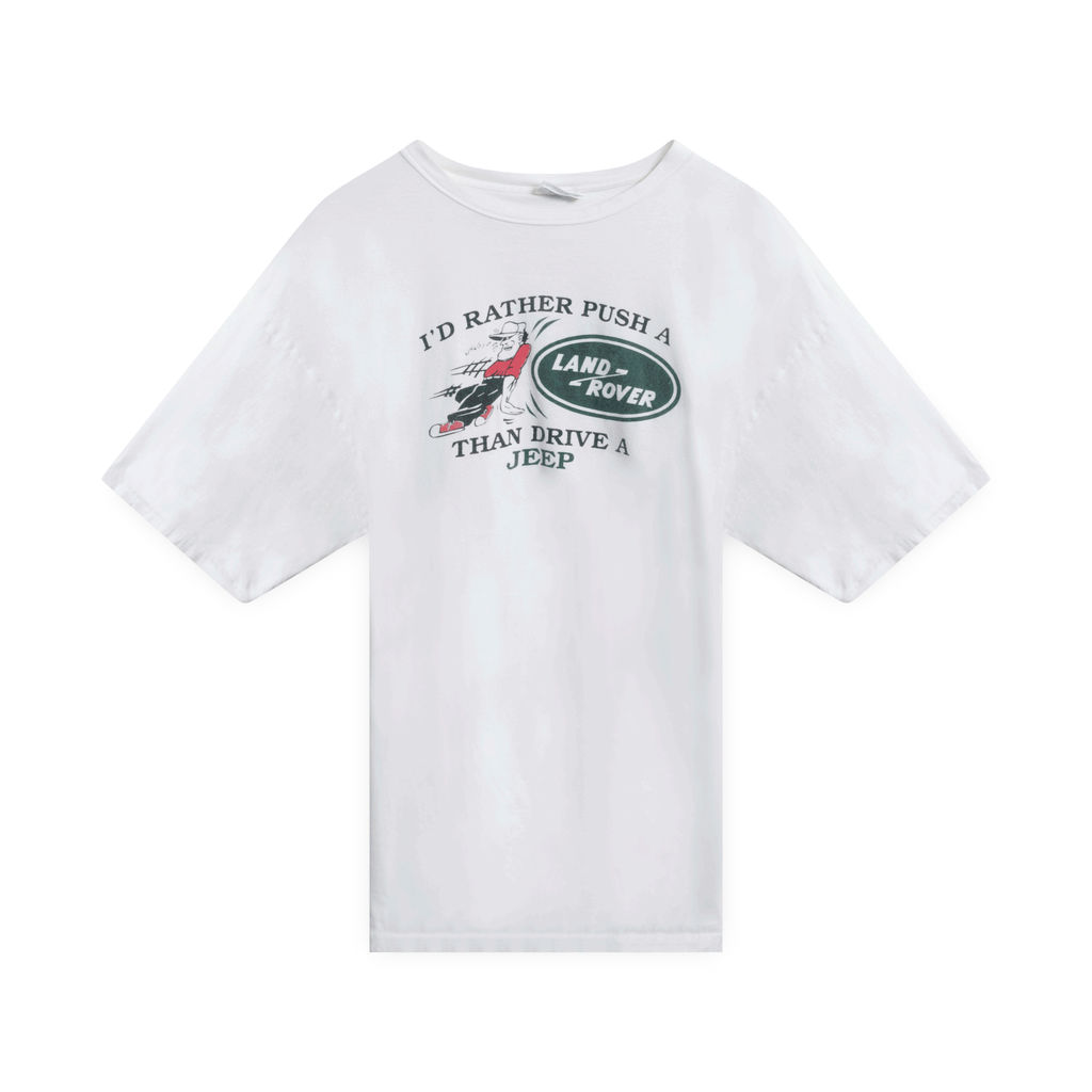 "Land Rover ""I'd Rather Push"" T-Shirt (White)"