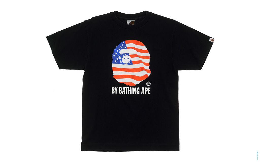 World Cup USA Flag Classic Apehead Logo Tee black