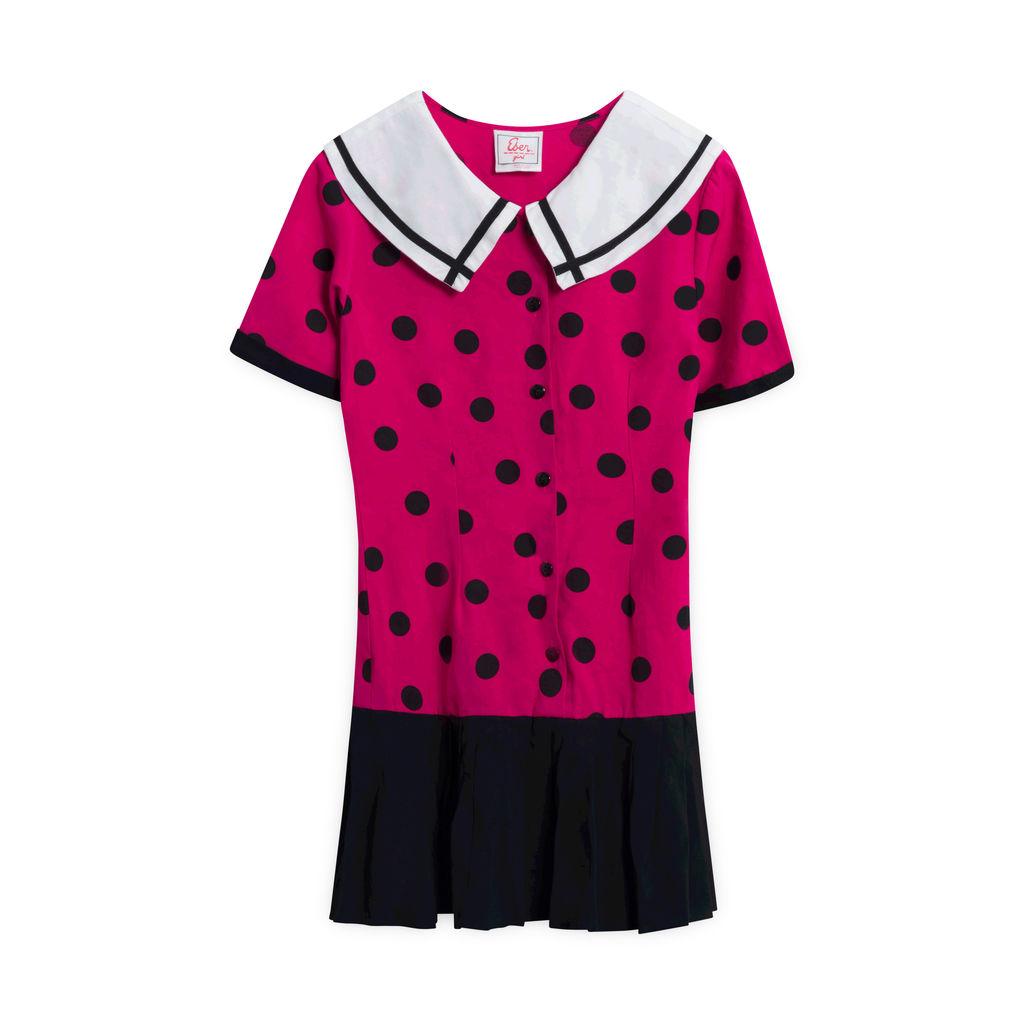 Vintage Eber Girl Polk-a-dot Dress