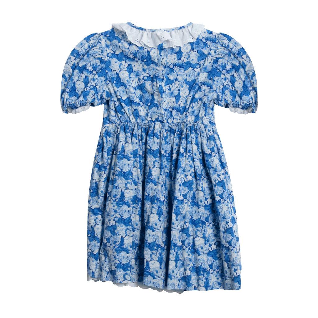 Vintage Winnie the Pooh Blue Floral Dress