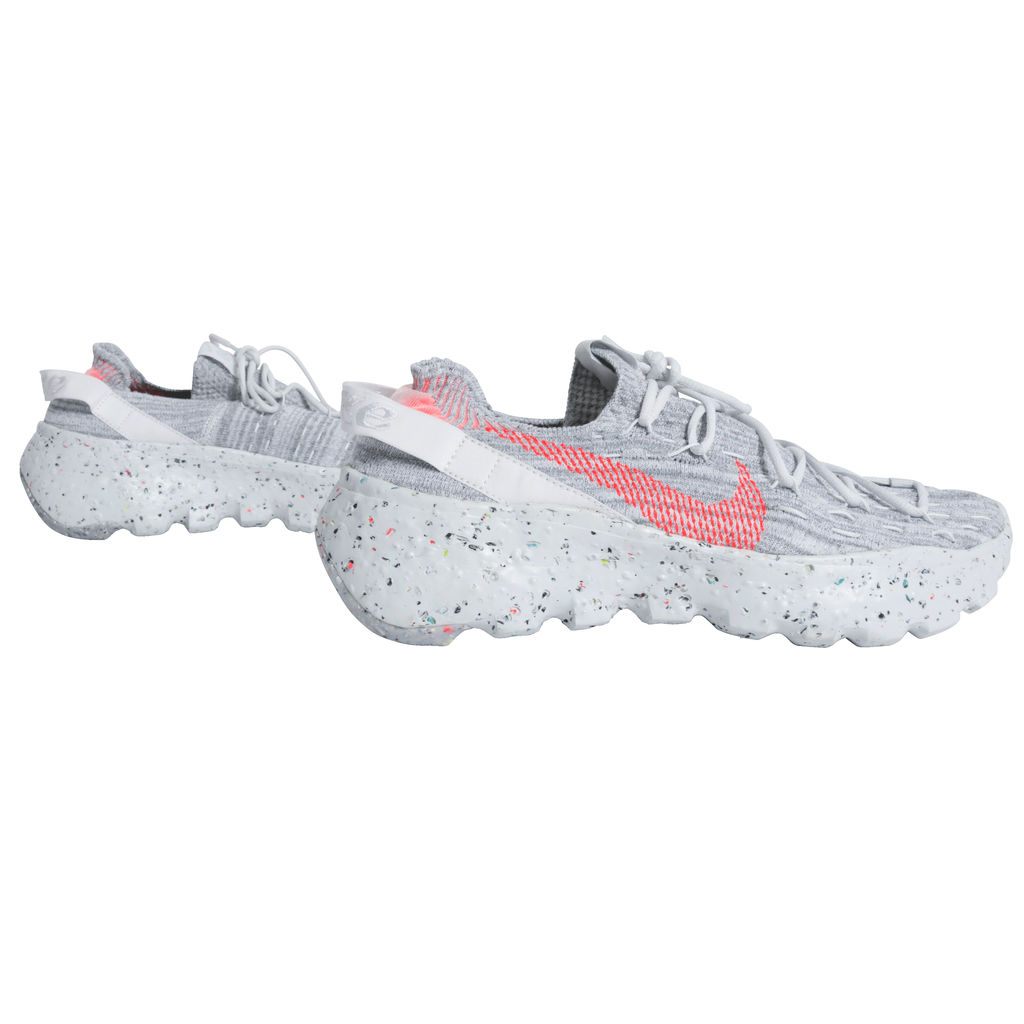 Nike Women's Space Hippie 04 Sneaker in Summer White/Hyper Crimson