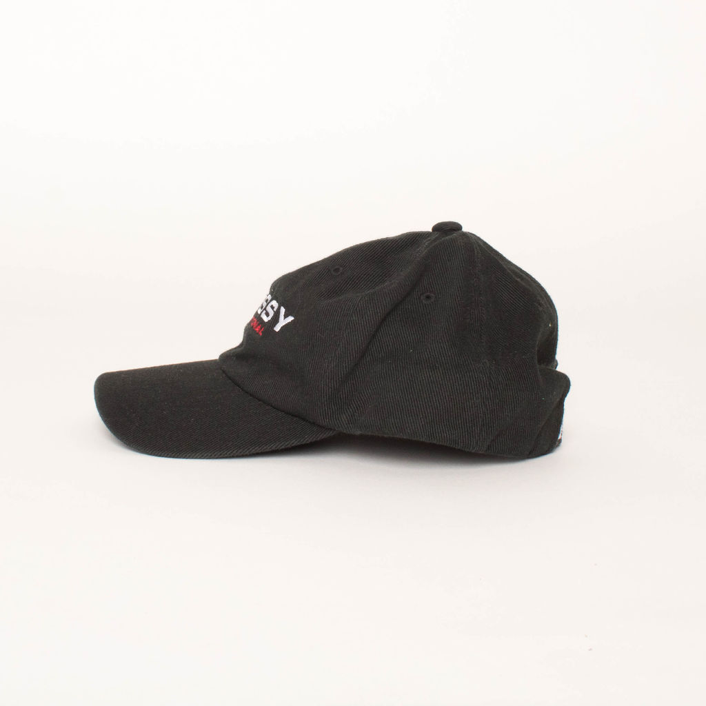 Stussy International Strapback Hat in Black