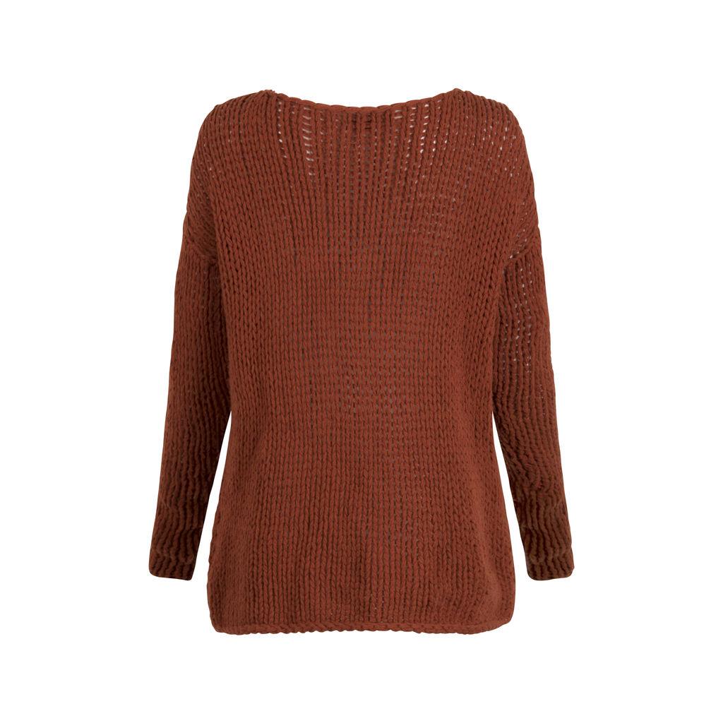 Vince Loose Knit Wool Sweater - Rust