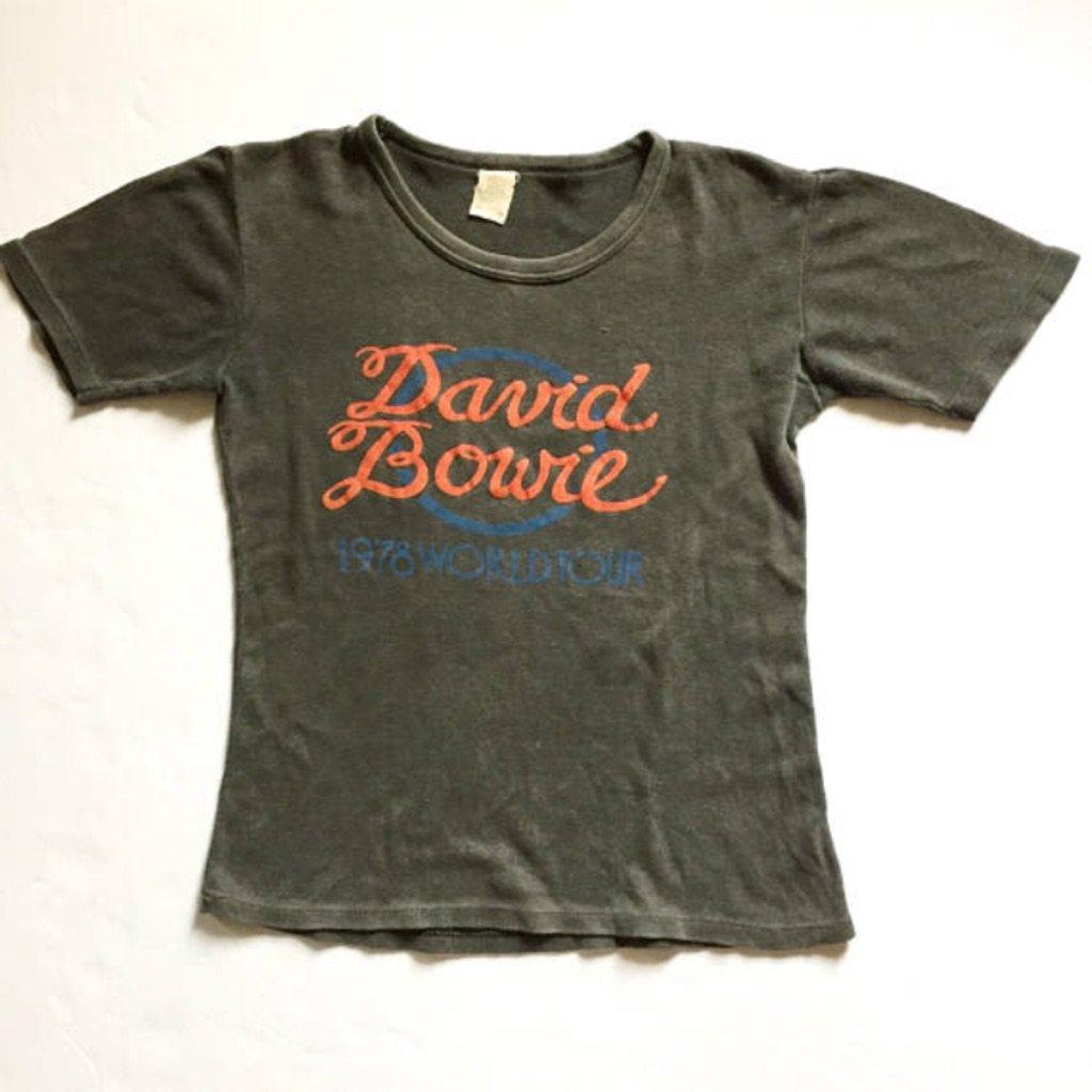 Vintage 1978 David Bowie World Tour Concert Shirt  curated by Scott Hopkins