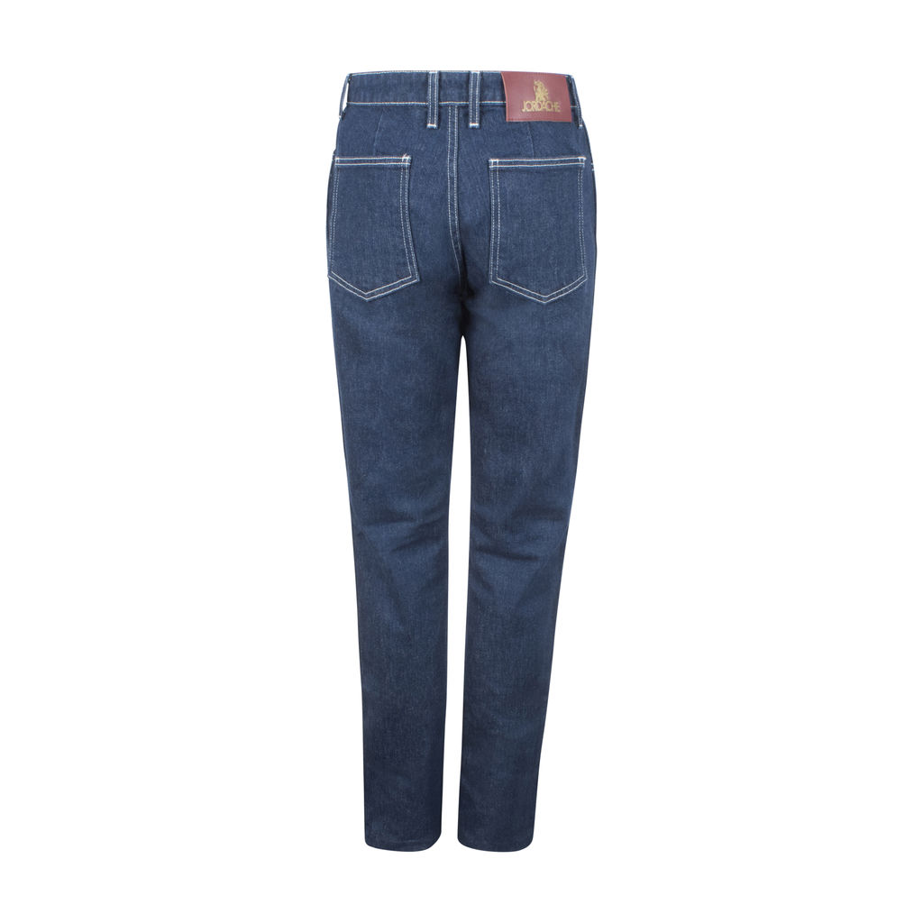 Jordache High-Rise Contrast Stitch Slim Denim