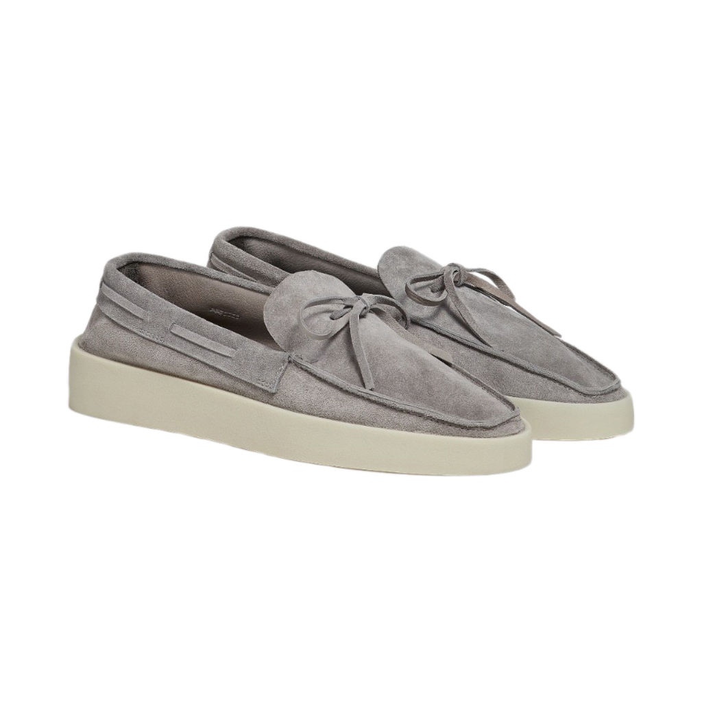FEAROFGOD x ZEGNA Suede Loafers in Stone