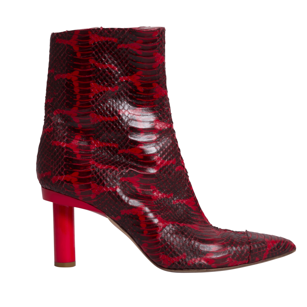 Tibi Grand Python-Embossed Leather Booties
