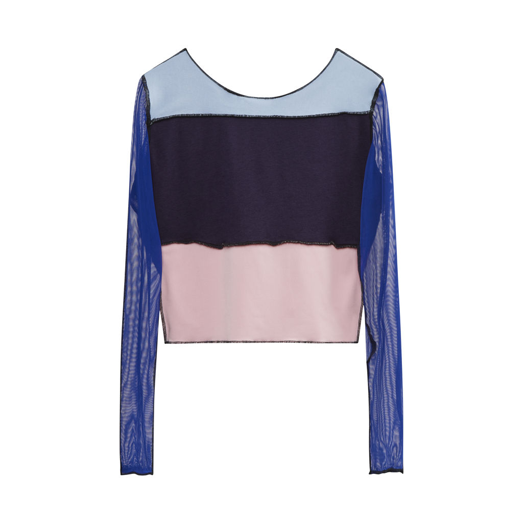JJVintage Reworked Nike Long Sleeve Top in Blue/Pink/Purple