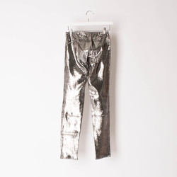Faith Connexion Metallic Reptile Leather Pants   curated by Sophia Amoruso