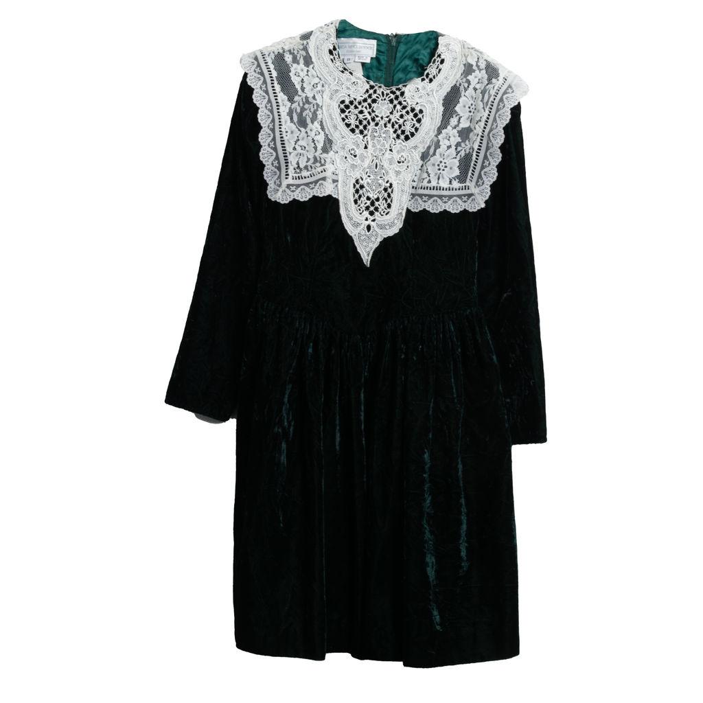 Gunne Sax Emerald Velvet Dress