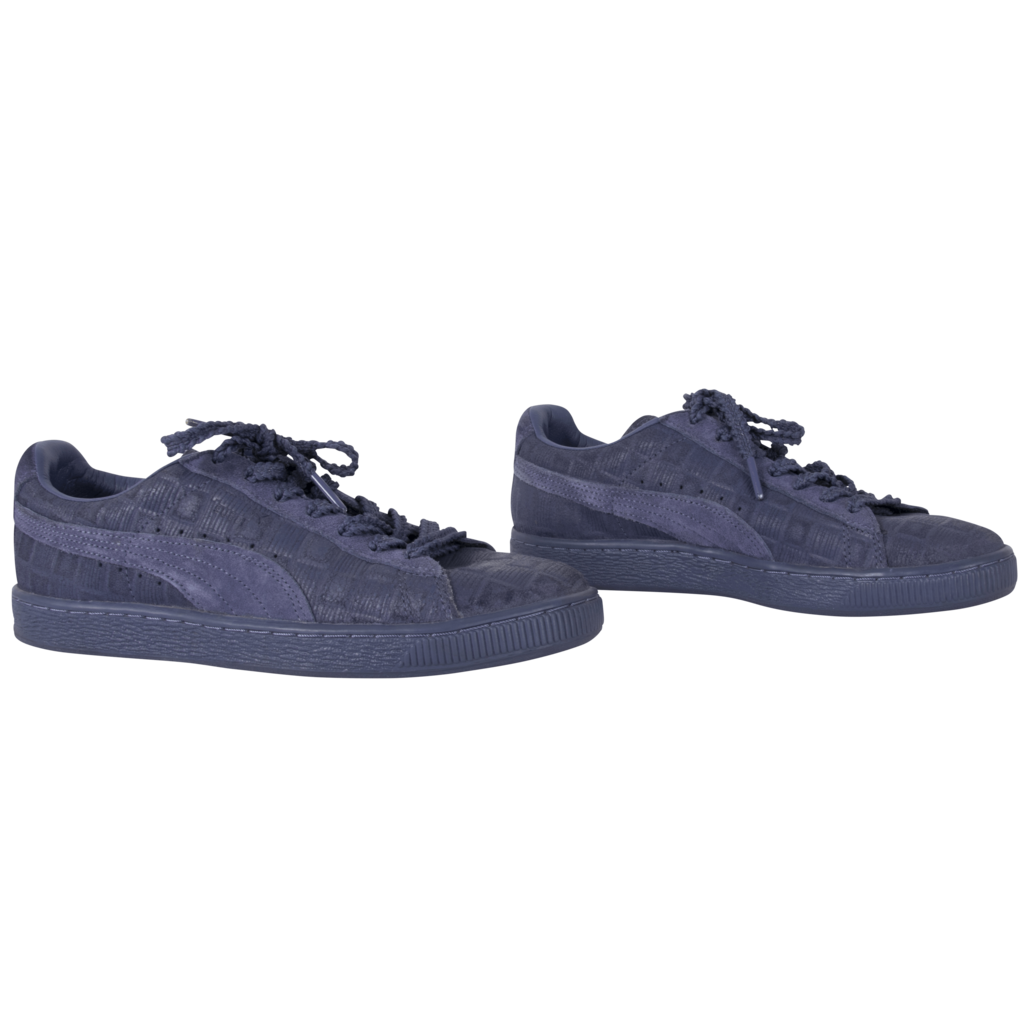 Puma Blue Suede Sneakers