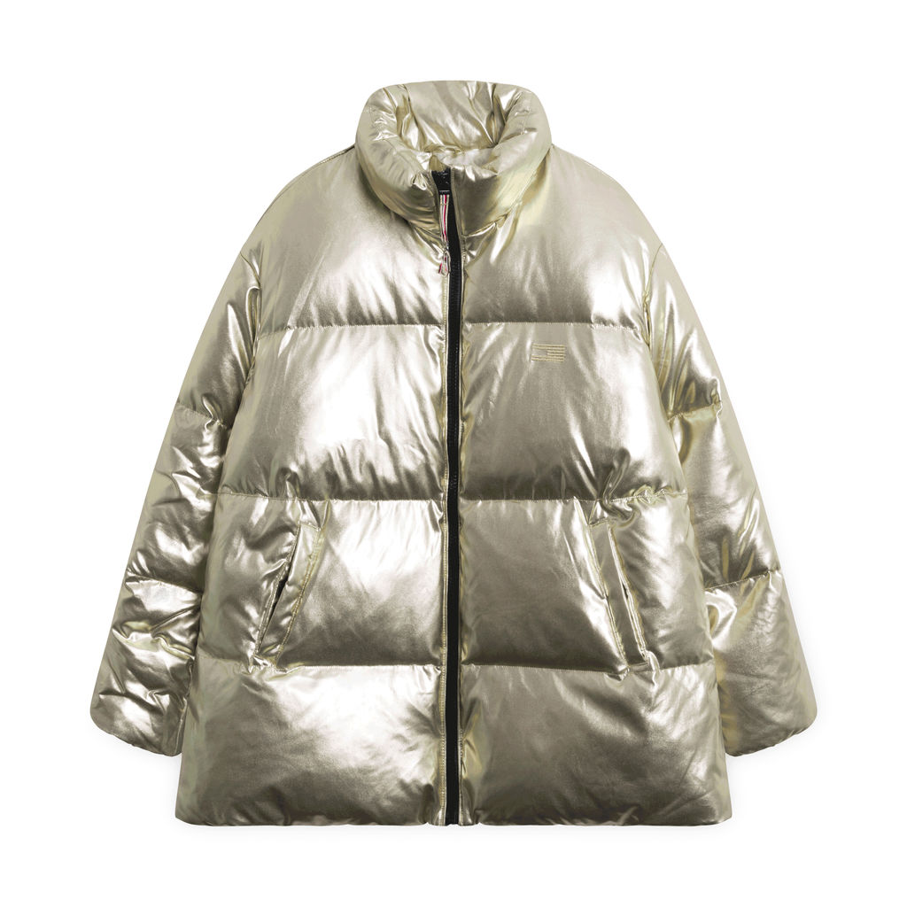 Tommy Icons Puffer Jacket - Metalic Gold