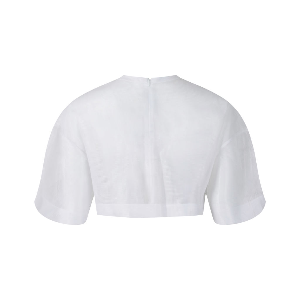 Jacquemus White Mesh Top