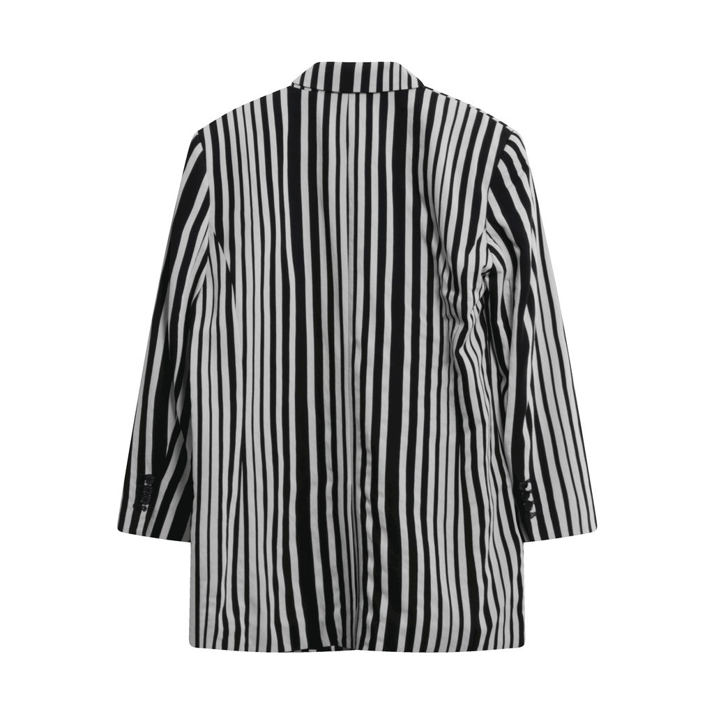 The Kooples Printed Stripes Cotton Blazer