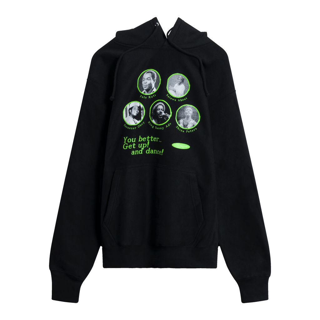 Naija All Stars Pullover Hood - Black