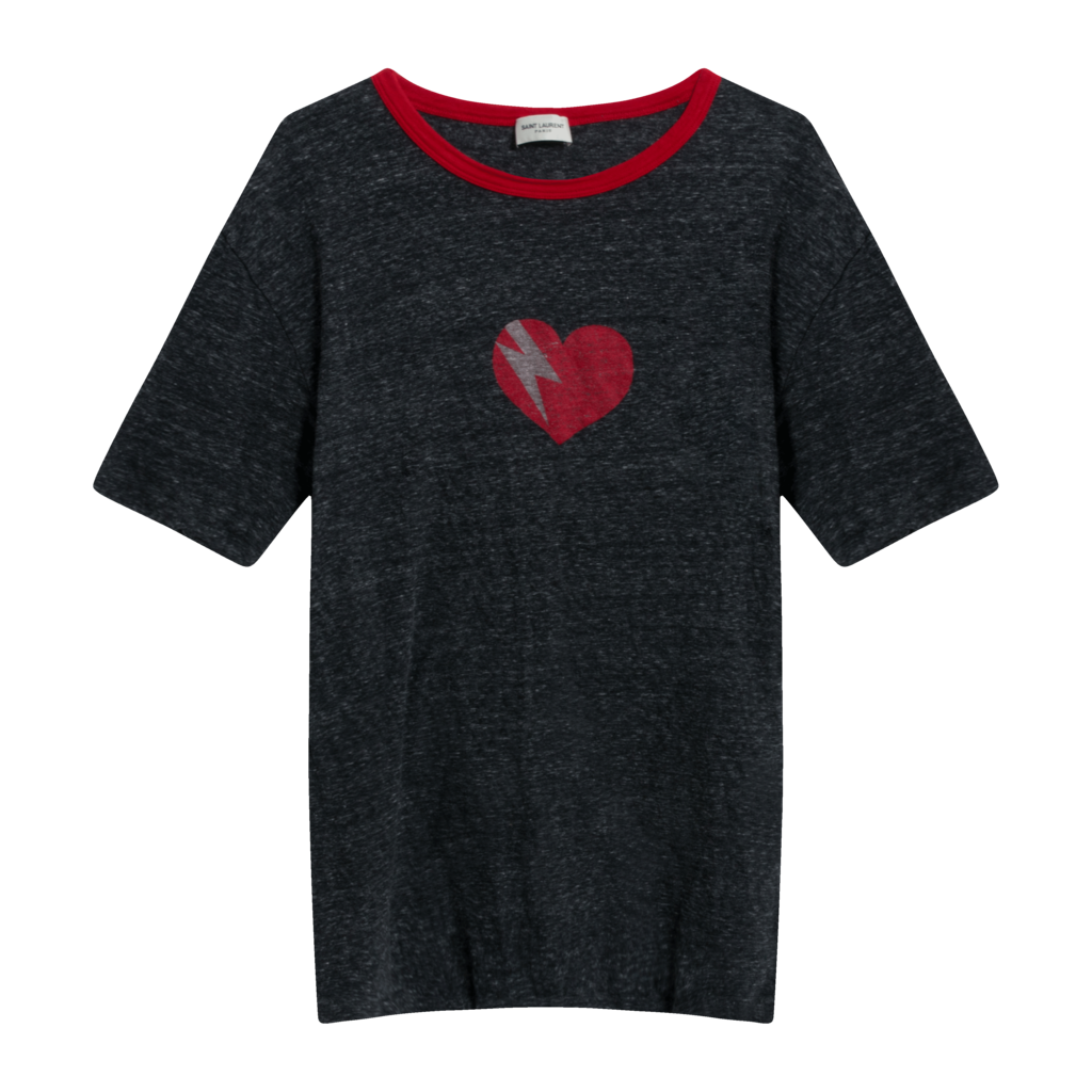 Saint Laurent Grey Heartbreak T-Shirt