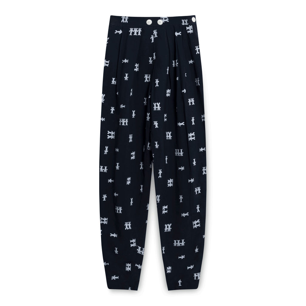 Vintage Navy Graphic Trousers