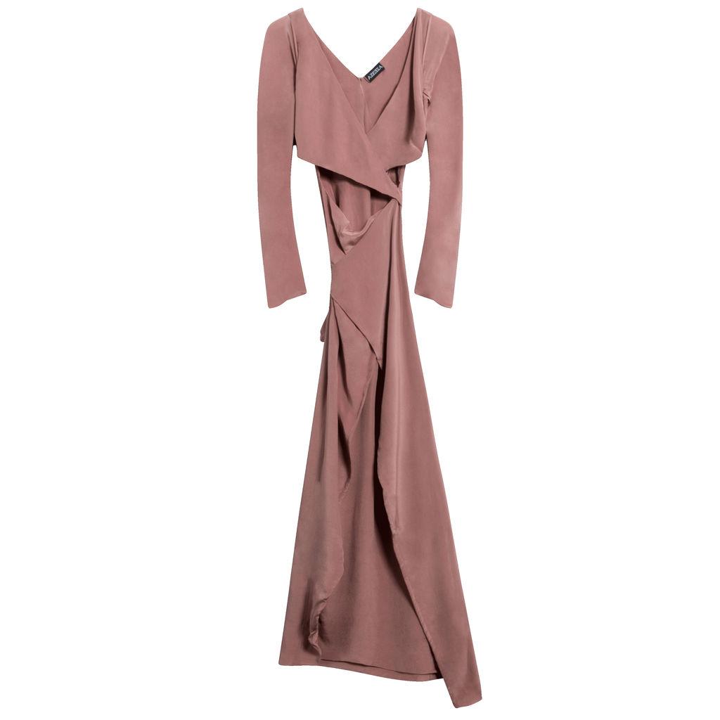 Azeeza Rose Pink Wrap Maxi Dress