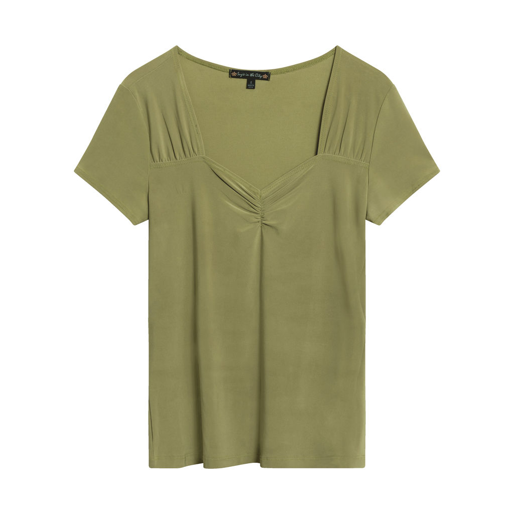 Suzie in the City Ruched Front Top