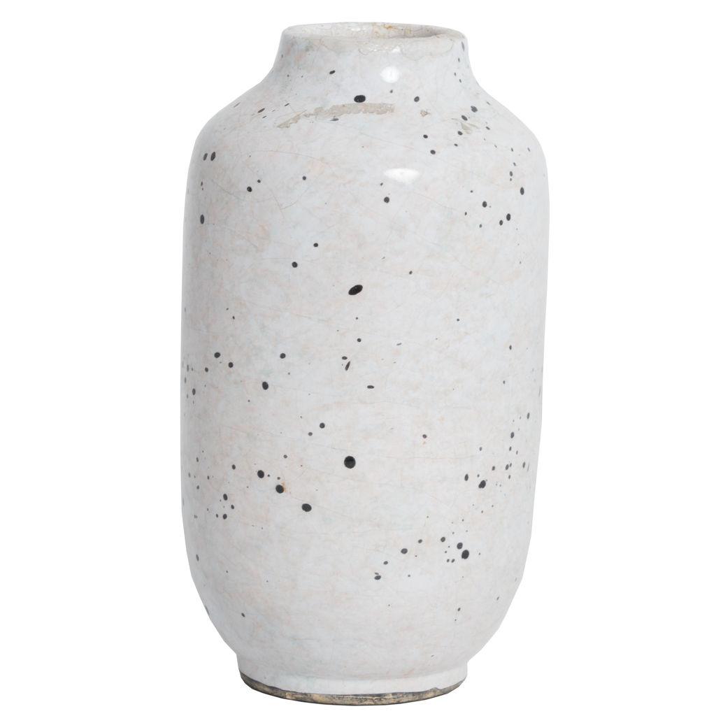 Vintage Cream Speckled Vase