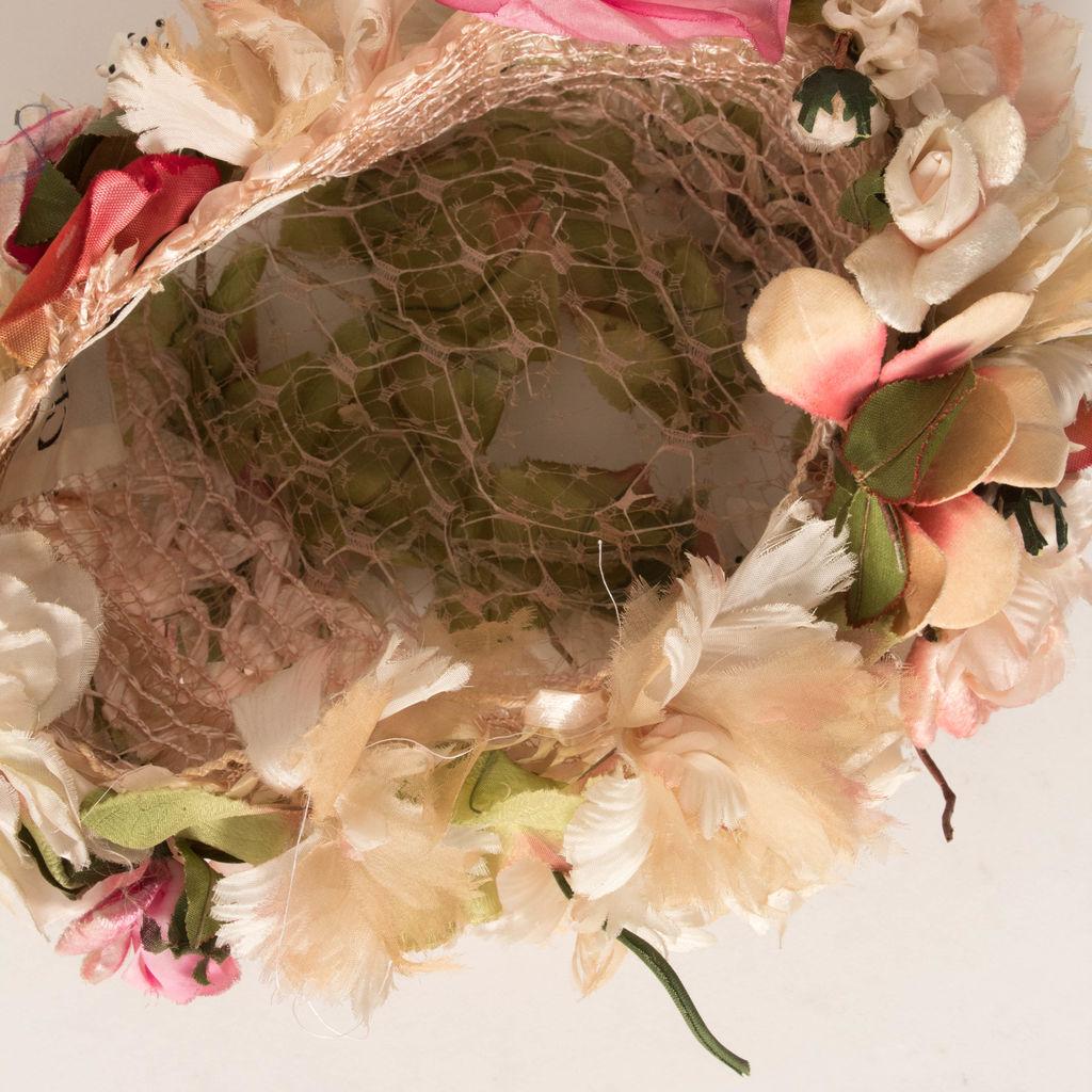 Vintage Christian Dior Floral Hat
