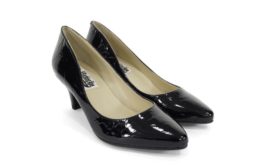BAPE Patent Leather Embossed Camo Heels black
