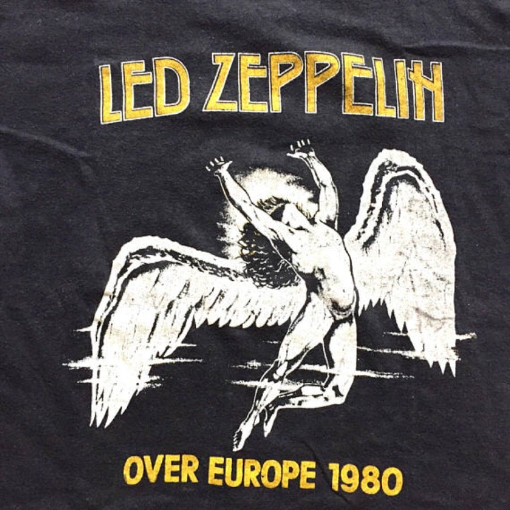 1980 LED Zeppelin Europe Tour Vintage Tee Shirt - Extremely Rare