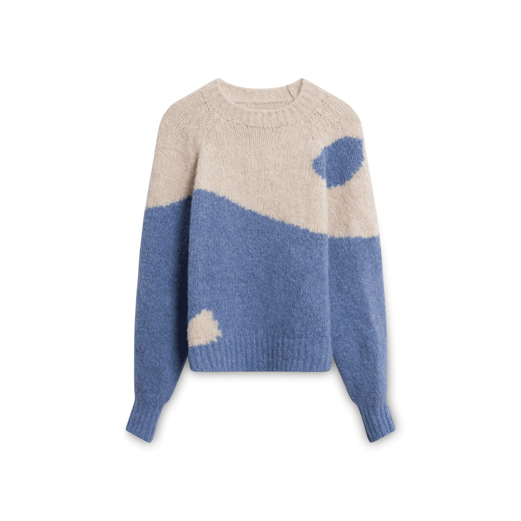 Paloma Wool Ying Yang Knitted Sweater - Blue