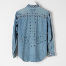 Vintage Levi's Studded Chambray Shirt curated by Sophia Amoruso