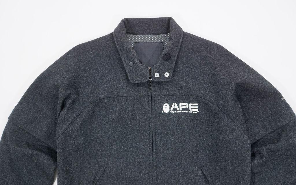 BAPE Windstopper Wool Convertible Sleeve Work Jacket
