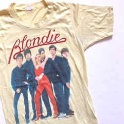 Rare 1979 Blondie Vintage Tour Band Concert Rock Tee Shirt  curated by Scott Hopkins