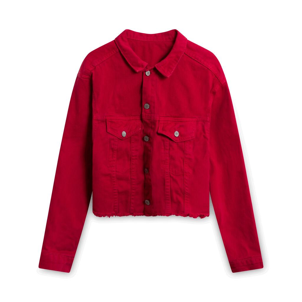 Brandy Melville John Galt Denim Jacket - Red