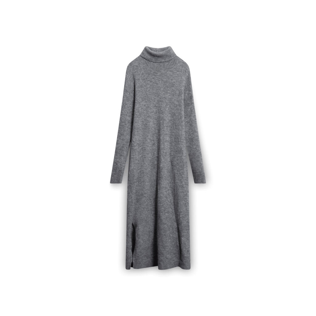 Designers Remix Charlotte Eskildsen Turtleneck Sweater Dress - Grey