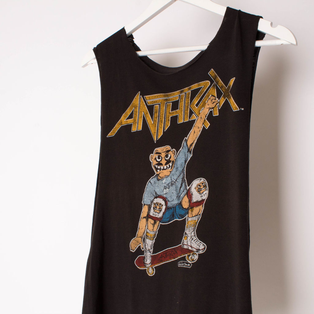Vintage Anthrax Spreading the Disease Skating Across the World T-Shirt