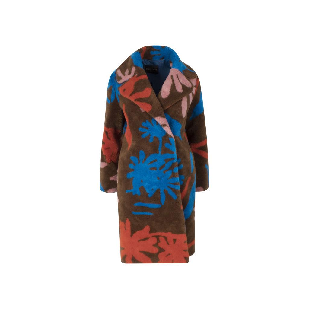 Stine Goya Concord Faux Fur Coat In Brown